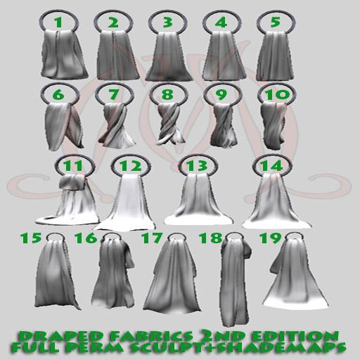 Draped Fabrics 2nd edition FULL PERM SCULPT+SHADEMAPS towels