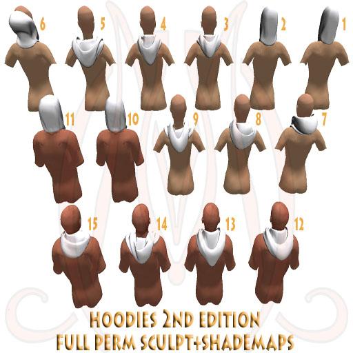 Hoodies 2nd edition FULL PERM SCULPT+SHADE MAPS box CAPS