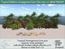 Tropical Plants Maldives 30m Line + Rocks-M/T v2.2