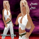 * Bliss Designs - Double Dare White ~ Full Perm Sexy Womens Clothing ~ Casual Outfit - Free Shoesound & Facelight