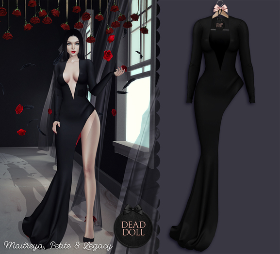 DEAD DOLL - Tish Gown - Black