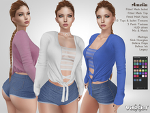 PROMO - Vaxer : Amelia Outfit - Maitreya Lara, Slink (H), Belleza (I, F) and Legacy. 16 Text. Mix & Match
