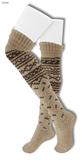 Gawk! Norwegian Knit Socks - FAWN -