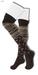 GAWK! Brown Norwegian Knit Socks | BoM
