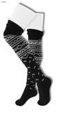 Gawk! Norwegian Knit Socks - BLACK -