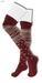 GAWK! Red Norwegian Knit Socks | BoM