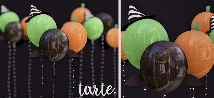tarte. spooky balloons