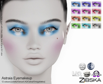 Zibska ~ Astraia Eyemakeup in 12 colors with Lelutka, Genus, LAQ, Catwa and Omega appliers and tattoo layers