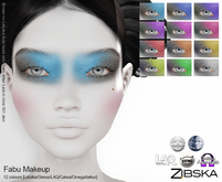 Zibska ~ Fabu Makeup in 12 colors with Lelutka, Genus, LAQ, Catwa and Omega appliers and tattoo layers