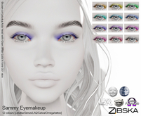 Zibska ~ Sammy Eyemakeup in 12 colors with Lelutka, Genus, LAQ, Catwa and Omega appliers and tattoo layers