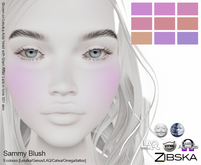 Zibska ~ Sammy Blush in 9 colors with Lelutka, Genus, LAQ, Catwa and Omega appliers and tattoo layers