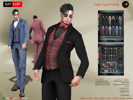A&D Clothing - Suit -Kurt-  FatPack