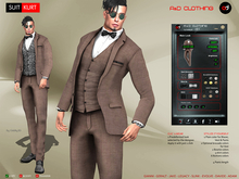 A&D Clothing - Suit -Kurt- Brown