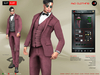 A&D Clothing - Suit -Kurt- Burgundy