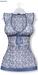 GAWK! Cornflower Blue Floral Long Top | BoM