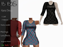 B BOS - Nuria Dress - Bohemian Black (Add me)