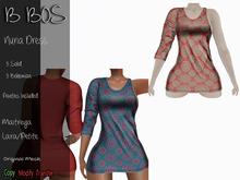 B BOS - Nuria Dress - Bohemian Red (Add me)