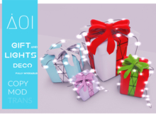 < AOI > Deco - Gift box and little lights