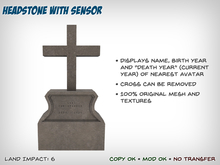 Headstone – Displays Name of Nearest Avatar