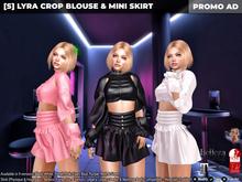 [S] Lyra Crop Blouse & Mini Skirt Demo