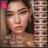 [POUT!] AM2PM HD Eye liners - *Wear to unpack me*