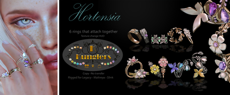 KUNGLERS - Hortensia rings