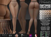 VANNIES PH Endless Legs - Shades of Denier (Applier HUD + BoM) Belleza, Legacy, Maitreya, Slink, Omega + Classic Avatar