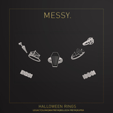 Messy. Halloween Rings Silver