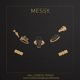 Messy. Halloween Rings Gold