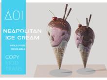 < AOI > Ice cream - Neapolitan