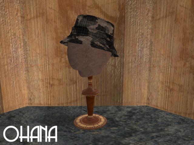 Ohana Bucket Hat Camo Black Grey (WEAR TO UNPACK)