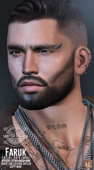 ((Mister Razzor)) Faruk Facial Hair + Shape for Lelutka Skyler