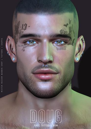 ((Mister Razzor)) Doug Face Tattoo