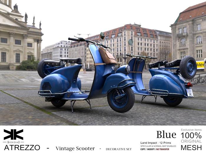 Atrezzo :: Vintage Scooter :: Blue :: {kokoia}