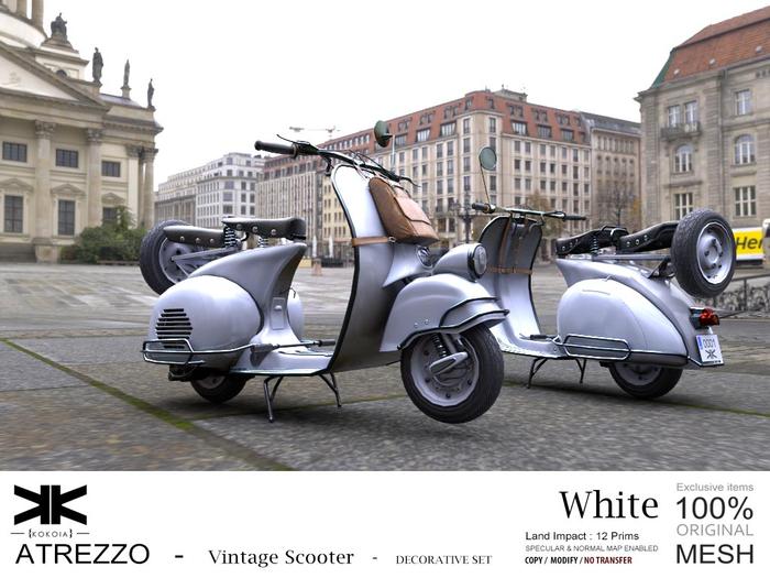 Atrezzo :: Vintage Scooter :: White :: {kokoia}