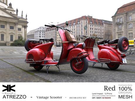 Atrezzo :: Vintage Scooter :: Red :: {kokoia}