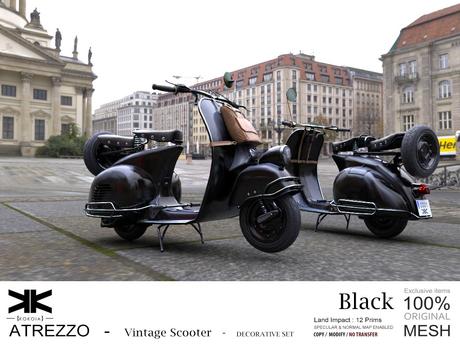 Atrezzo :: Vintage Scooter :: Black :: {kokoia}
