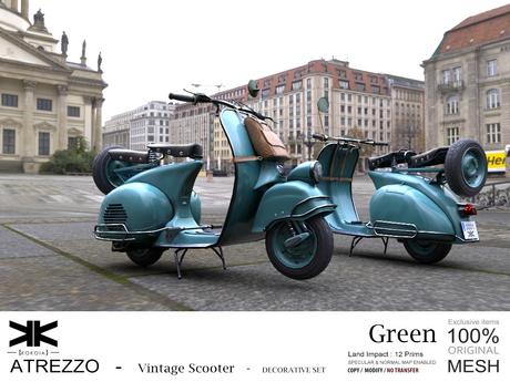 Atrezzo :: Vintage Scooter :: Green :: {kokoia}