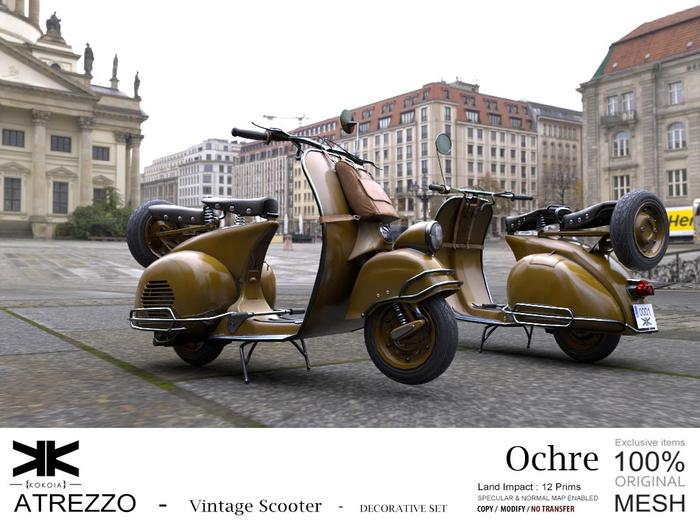 Atrezzo :: Vintage Scooter :: Ochre :: {kokoia}