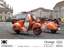 Atrezzo :: Vintage Scooter :: Orange :: {kokoia}