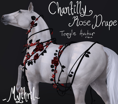 ~Mythril~ Chantilly Roses Drape: Teegle Standard (Avatar)