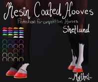 ~Mythril~ Resin Coated Hooves (Shetland)