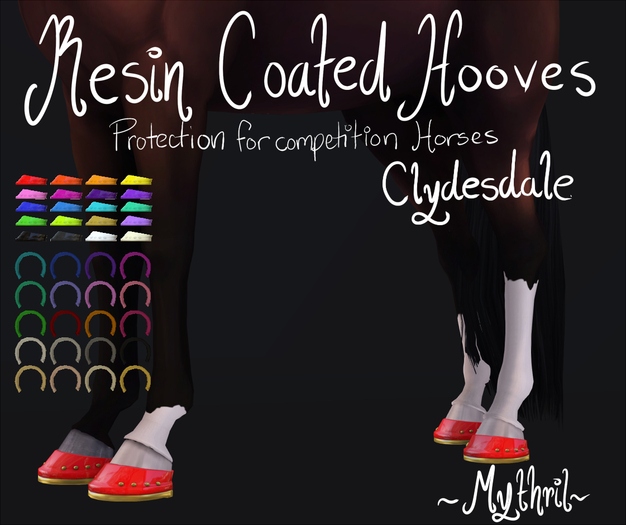 ~Mythril~ Resin Coated Hooves (Clydesdale)
