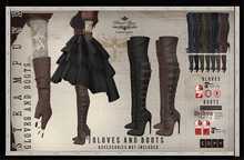 PIXEL BOX - Steampunk Leather Gloves and Boots