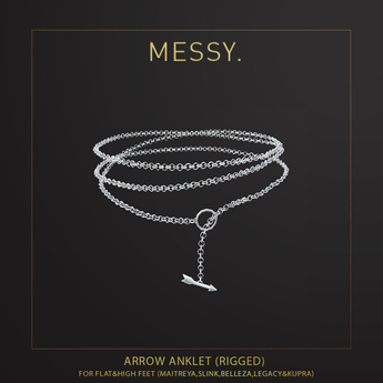 Messy. Arrow Anklet Silver