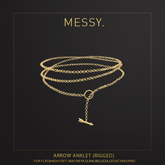 Messy. Arrow Anklet Gold