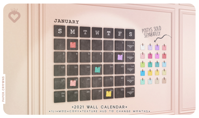 paper.crowns - wall calendar 2021