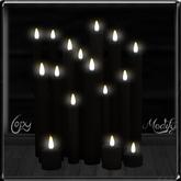 ~*LT*~ Cluster of Candles - Black