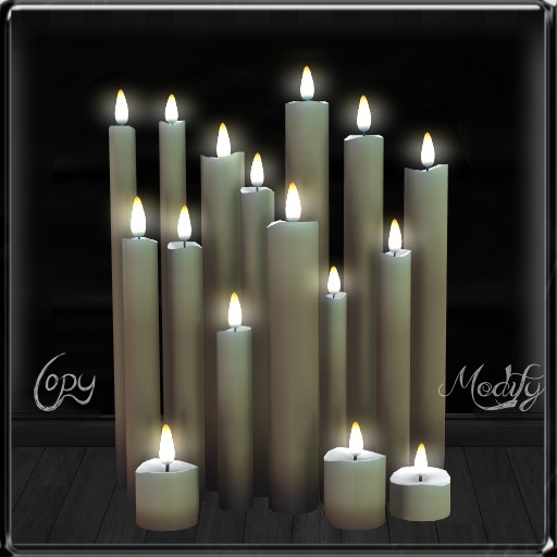 ~*LT*~ Cluster of Candles - White