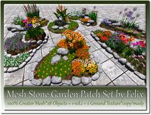 Mesh Stone Garden Patch Set by Felix 28 Objects 1-10Li c-m